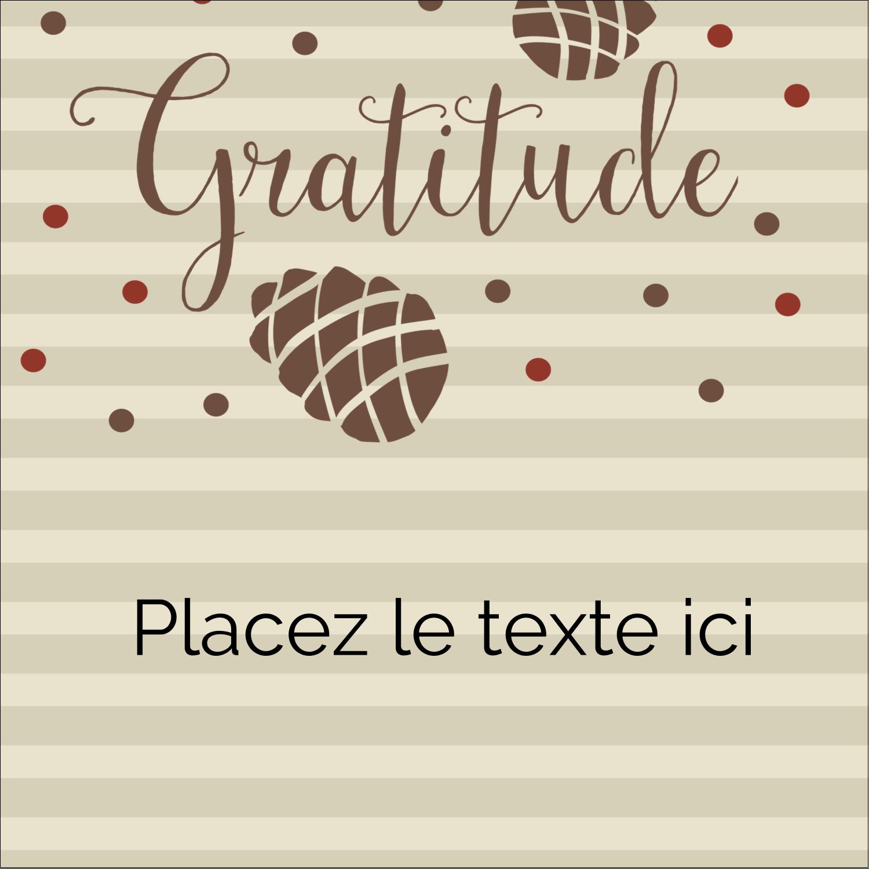 """2"""" Diameter Étiquettes rondes - Gratitude"""