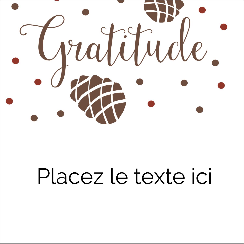 """9¾"""" x 1¼"""" Étiquettes enveloppantes - Gratitude"""