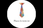 Cravate de la Fête des Pères Étiquettes rondes - gabarit prédéfini. <br/>Utilisez notre logiciel Avery Design & Print Online pour personnaliser facilement la conception.