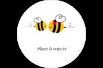 Maman abeille Étiquettes rondes - gabarit prédéfini. <br/>Utilisez notre logiciel Avery Design & Print Online pour personnaliser facilement la conception.