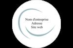 Ellipse Étiquettes rondes - gabarit prédéfini. <br/>Utilisez notre logiciel Avery Design & Print Online pour personnaliser facilement la conception.