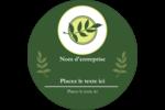 Rameau d'olivier  Étiquettes rondes - gabarit prédéfini. <br/>Utilisez notre logiciel Avery Design & Print Online pour personnaliser facilement la conception.