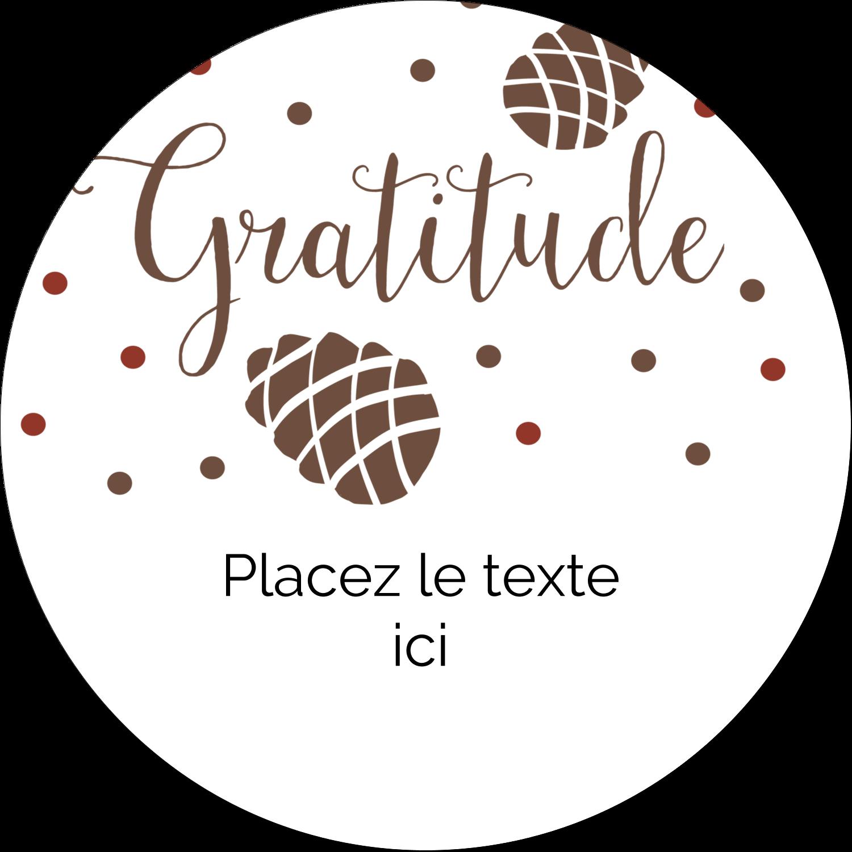 """3"""" x 2¼"""" Étiquettes arrondies - Gratitude"""