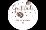 Gratitude Étiquettes arrondies - gabarit prédéfini. <br/>Utilisez notre logiciel Avery Design & Print Online pour personnaliser facilement la conception.