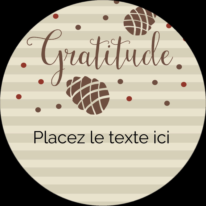 """3-7/16"""" x 15/16"""" Étiquettes de classement - Gratitude"""