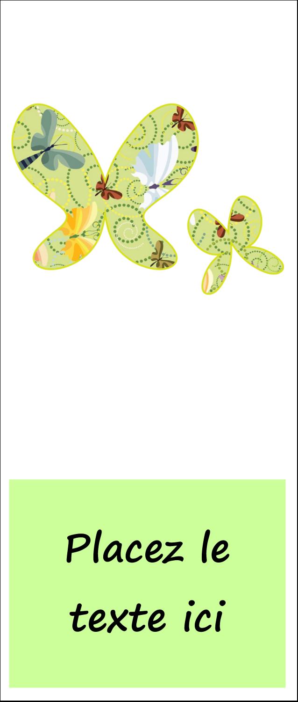 "1¾"" x 5½"" Tickets - Deux papillons"