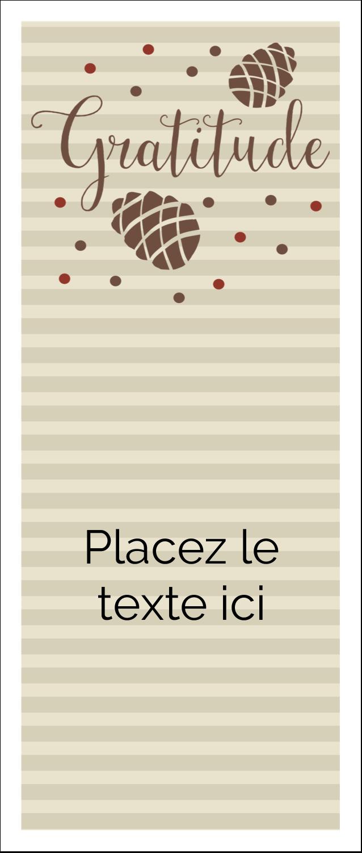 """2"""" x 3½"""" Cartes Pour Le Bureau - Gratitude"""