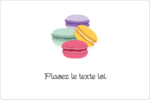 Macarons français Étiquettes rectangulaires - gabarit prédéfini. <br/>Utilisez notre logiciel Avery Design & Print Online pour personnaliser facilement la conception.