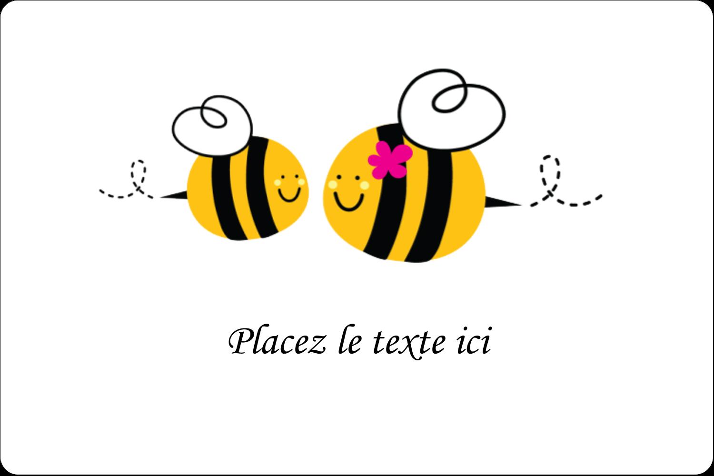 """2"""" x 3"""" Étiquettes rectangulaires - Maman abeille"""