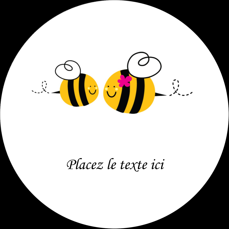 """2"""" Diameter Étiquettes rondes gaufrées - Maman abeille"""