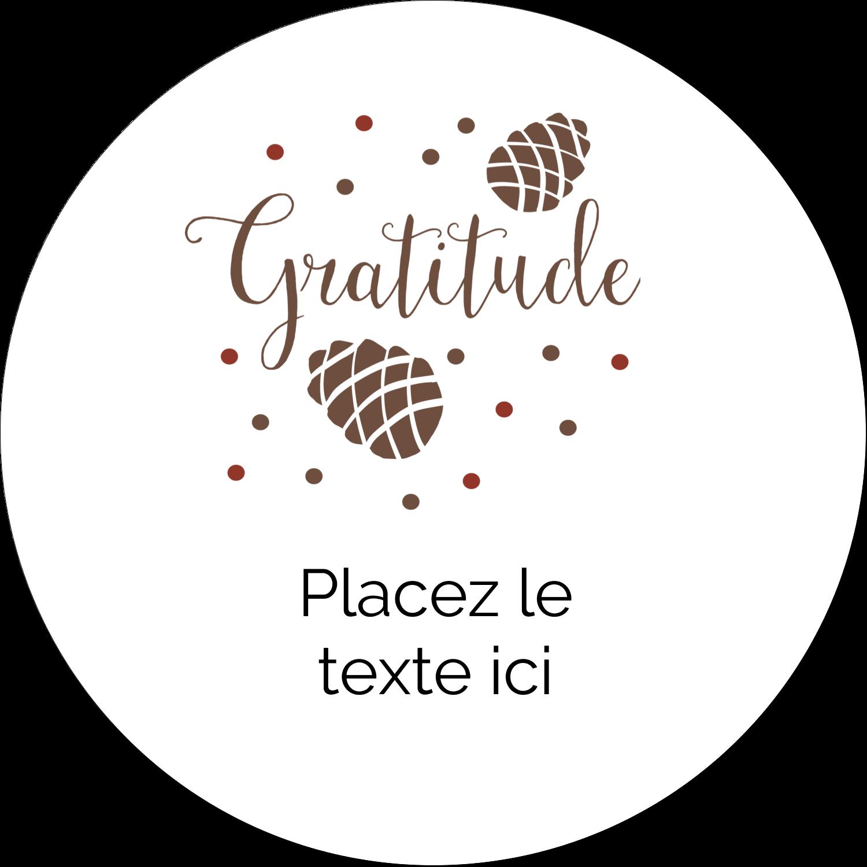 """4¾"""" x 3½"""" Étiquettes arrondies - Gratitude"""