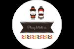 Pèlerins de l'Action de grâce Étiquettes arrondies - gabarit prédéfini. <br/>Utilisez notre logiciel Avery Design & Print Online pour personnaliser facilement la conception.