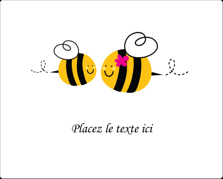 """3"""" x 3¾"""" Étiquettes rectangulaires - Maman abeille"""