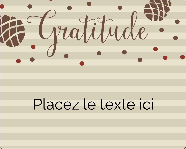 """2"""" Diameter Étiquettes rondes gaufrées - Gratitude"""