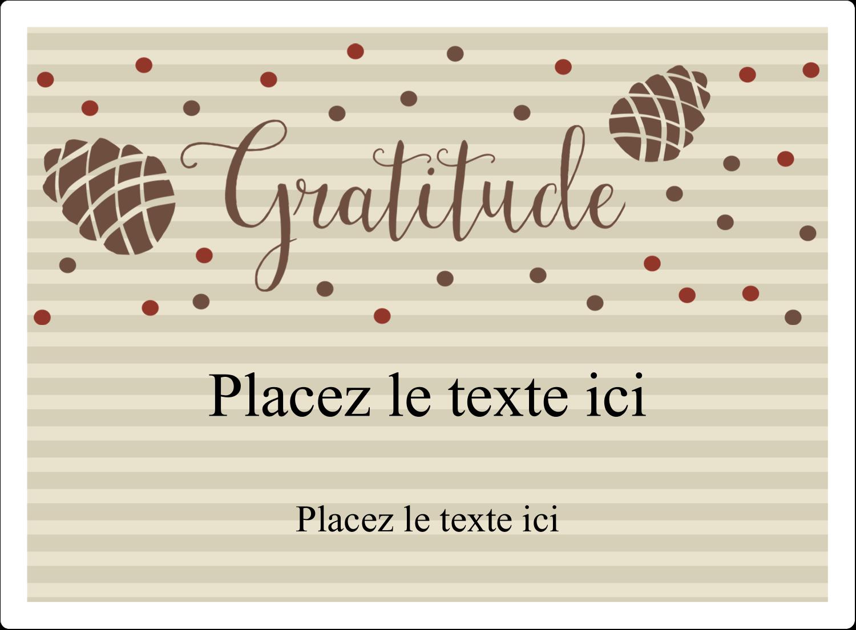 """2½"""" Diameter Étiquettes rondes - Gratitude"""