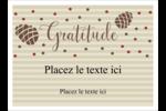 Gratitude Étiquettes rondes - gabarit prédéfini. <br/>Utilisez notre logiciel Avery Design & Print Online pour personnaliser facilement la conception.
