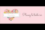 Cœurs et fleurs Affichette - gabarit prédéfini. <br/>Utilisez notre logiciel Avery Design & Print Online pour personnaliser facilement la conception.