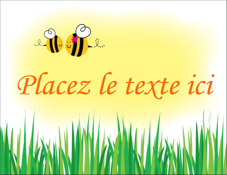 "5½"" x 4¼"" Carte Postale - Maman abeille"