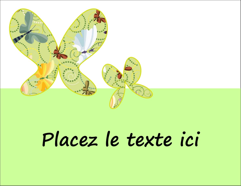 """5½"""" x 4¼"""" Carte Postale - Deux papillons"""