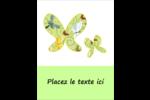 Deux papillons Carte Postale - gabarit prédéfini. <br/>Utilisez notre logiciel Avery Design & Print Online pour personnaliser facilement la conception.