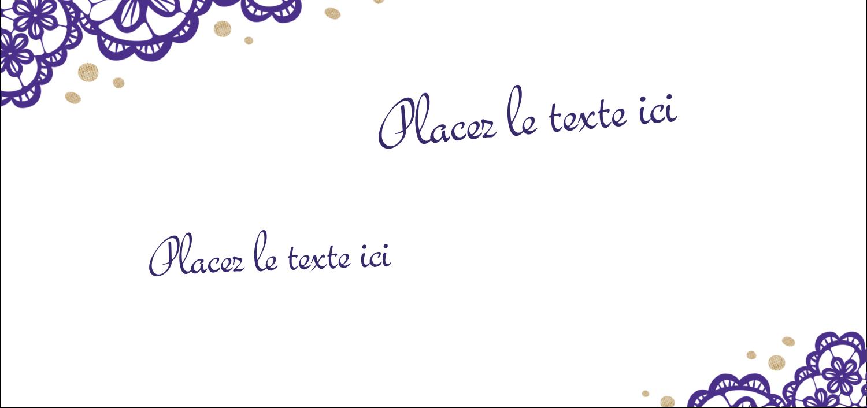 "8½"" x 11"" Intercalaires / Onglets - Mariage en dentelle violette"