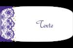 Mariage en dentelle violette Reliures - gabarit prédéfini. <br/>Utilisez notre logiciel Avery Design & Print Online pour personnaliser facilement la conception.