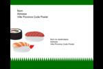 Sushis  Étiquettes d'expédition - gabarit prédéfini. <br/>Utilisez notre logiciel Avery Design & Print Online pour personnaliser facilement la conception.