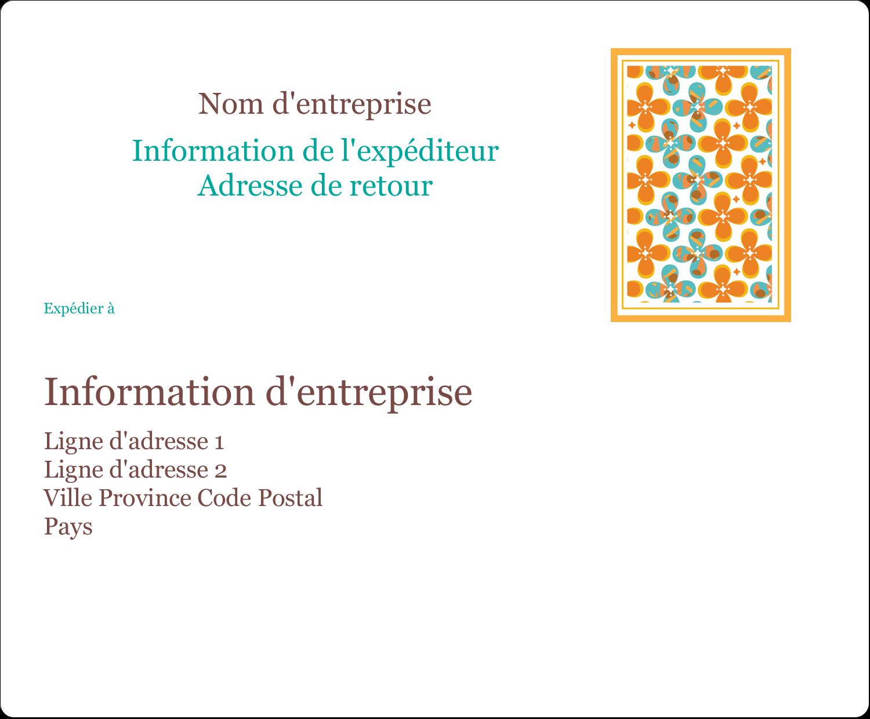 """3⅓"""" x 4"""" Étiquettes d'expédition - Motif fleuri"""