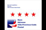 Étoile patriotique Étiquettes d'expédition - gabarit prédéfini. <br/>Utilisez notre logiciel Avery Design & Print Online pour personnaliser facilement la conception.