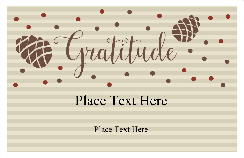 "5½"" x 8½"" Greeting Card - Thanksgiving Gratitude"