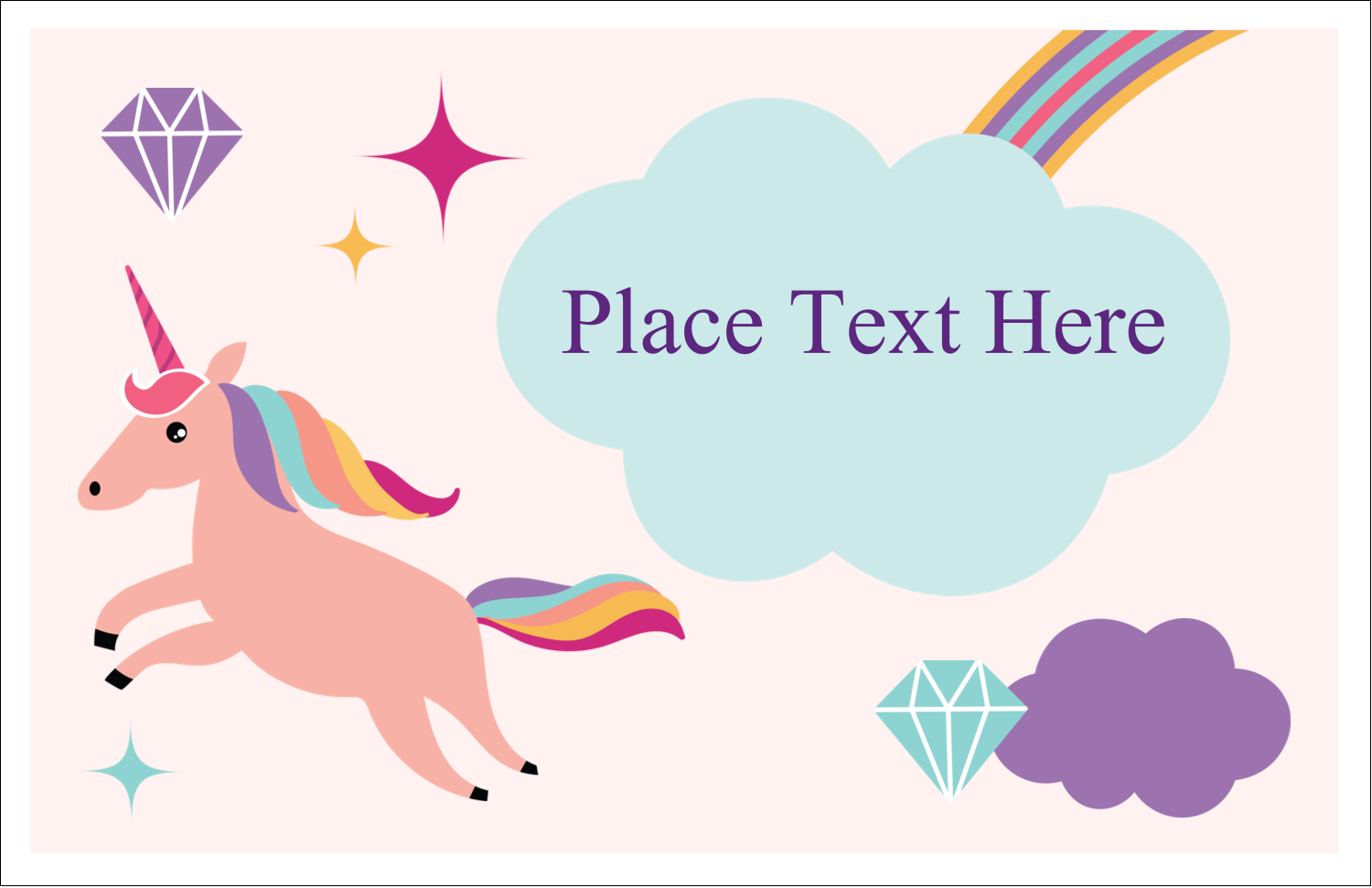 "5½"" x 8½"" Greeting Card - Unicorn Party"