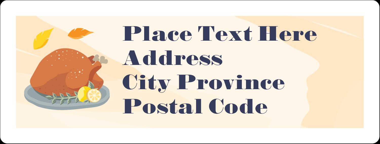 "1"" x 2⅝"" Address Label - Thanksgiving Feast"