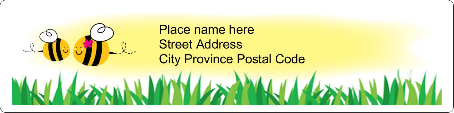 "1"" x 4"" Address Label - Mother Bees"