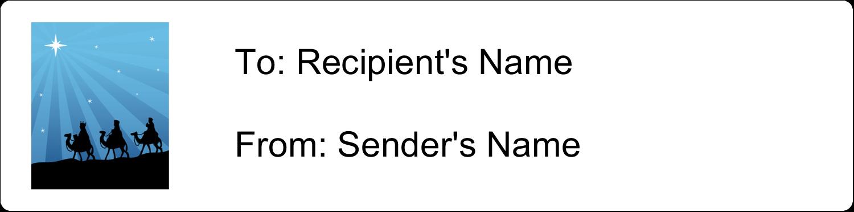 "1"" x 4"" Address Label - Three Wise Men"