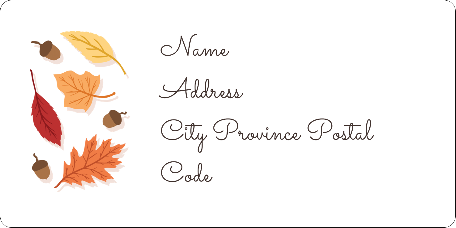"2"" x 4"" Shipping Label - Thanksgiving Leafy"