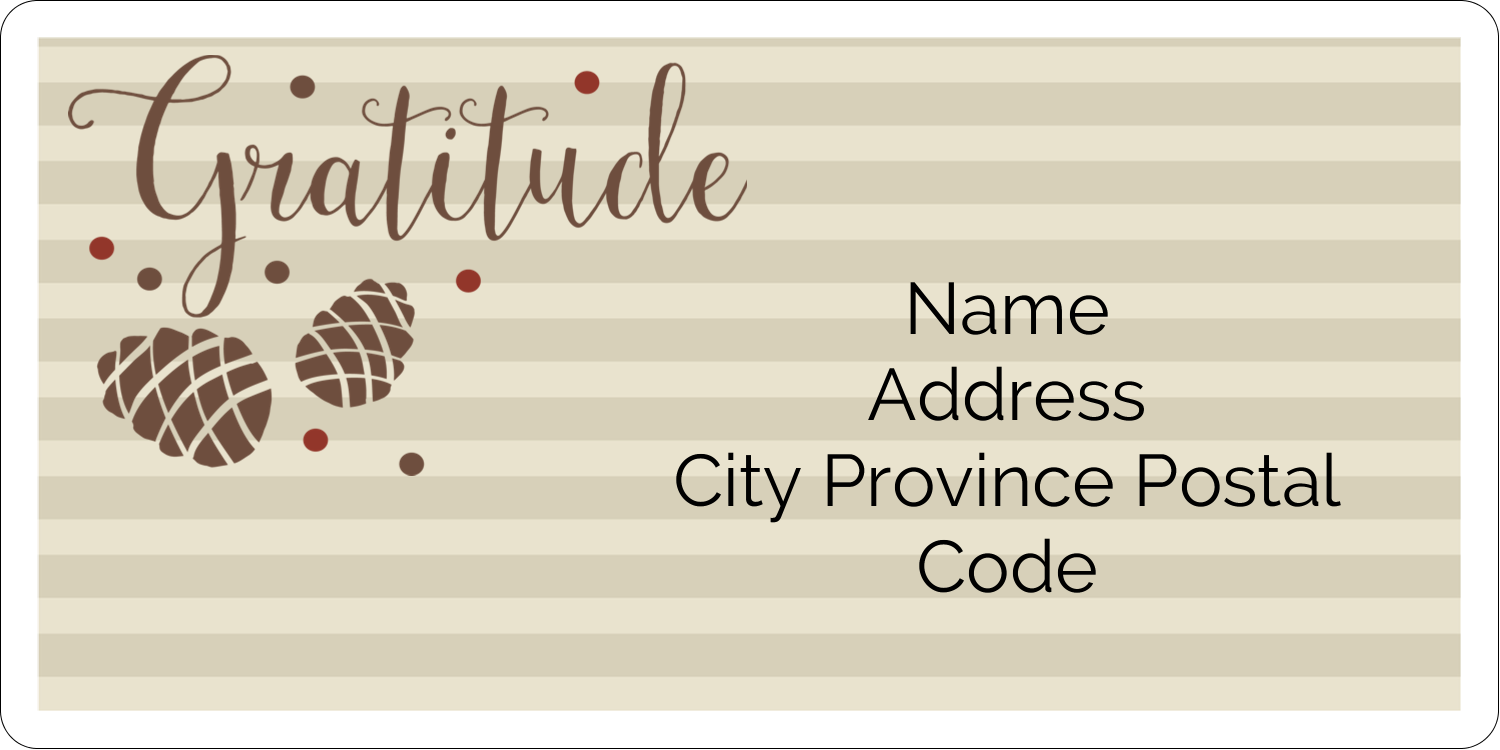 "2"" x 4"" Shipping Label - Thanksgiving Gratitude"