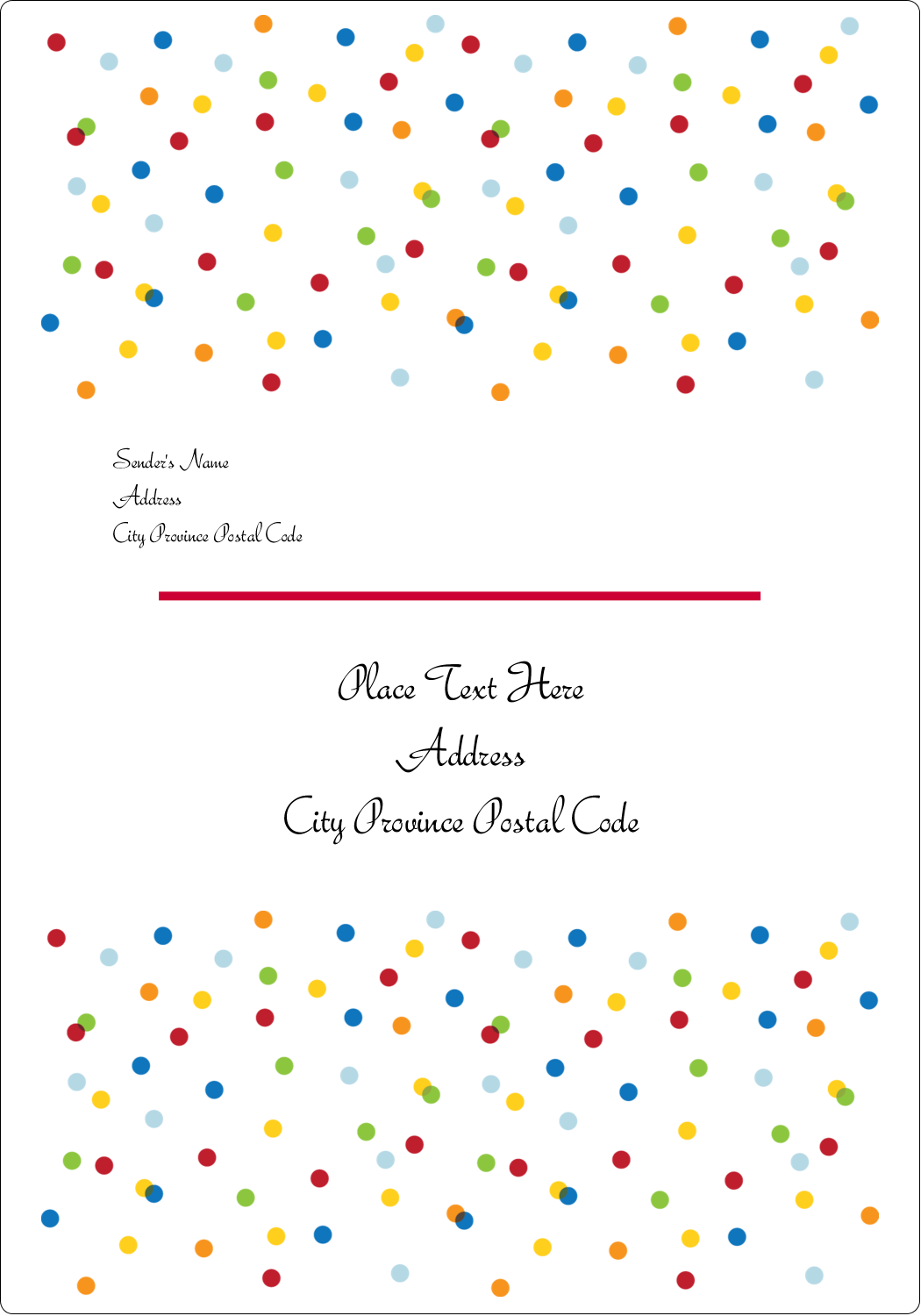 "3½"" x 5"" Shipping Label - Birthday Confetti"