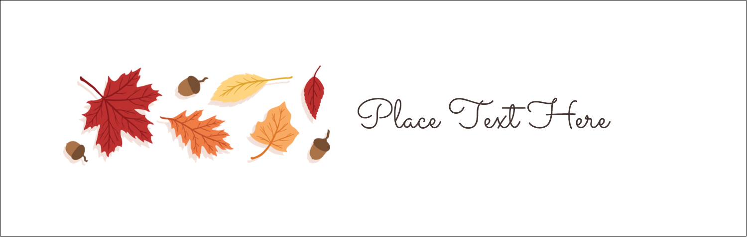 "3½"" x 11"" Tent Card - Thanksgiving Leafy"