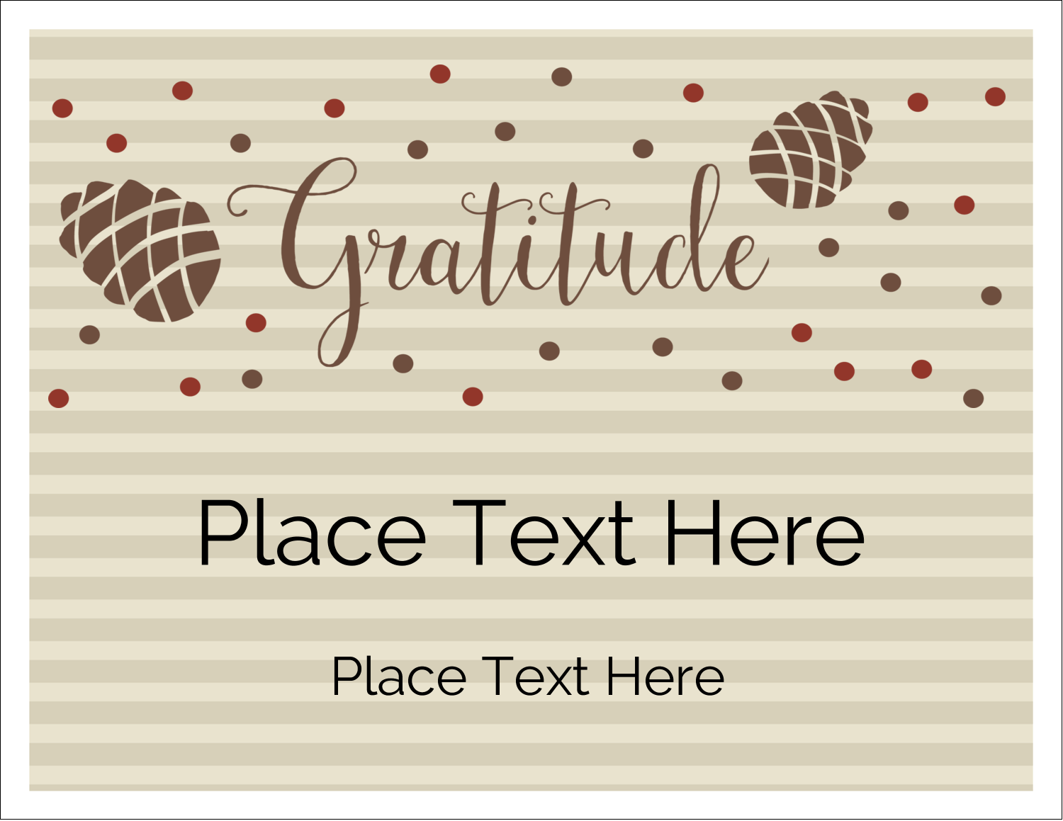 "5½"" x 4¼"" Note Card - Thanksgiving Gratitude"
