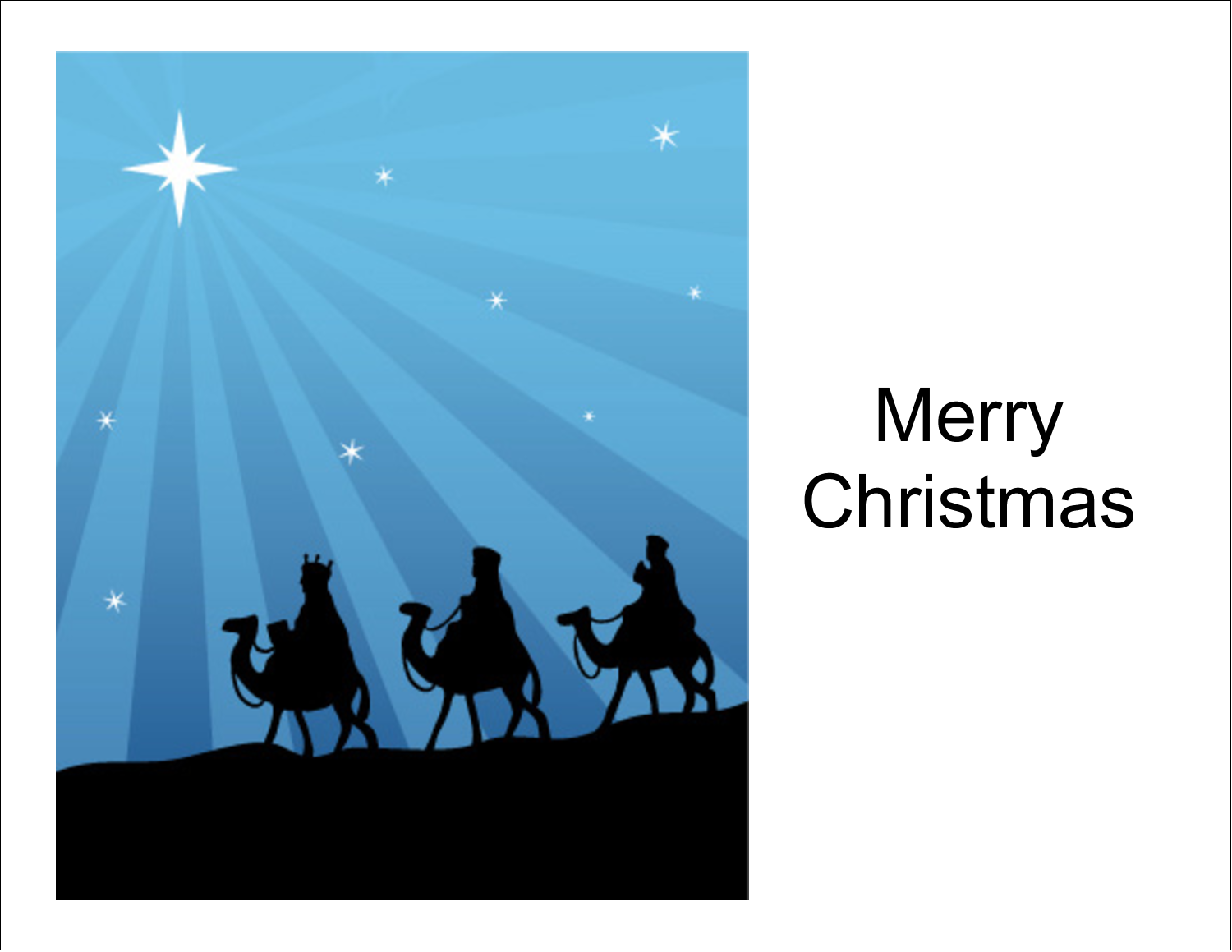 "5½"" x 4¼"" Note Card - Three Wise Men"