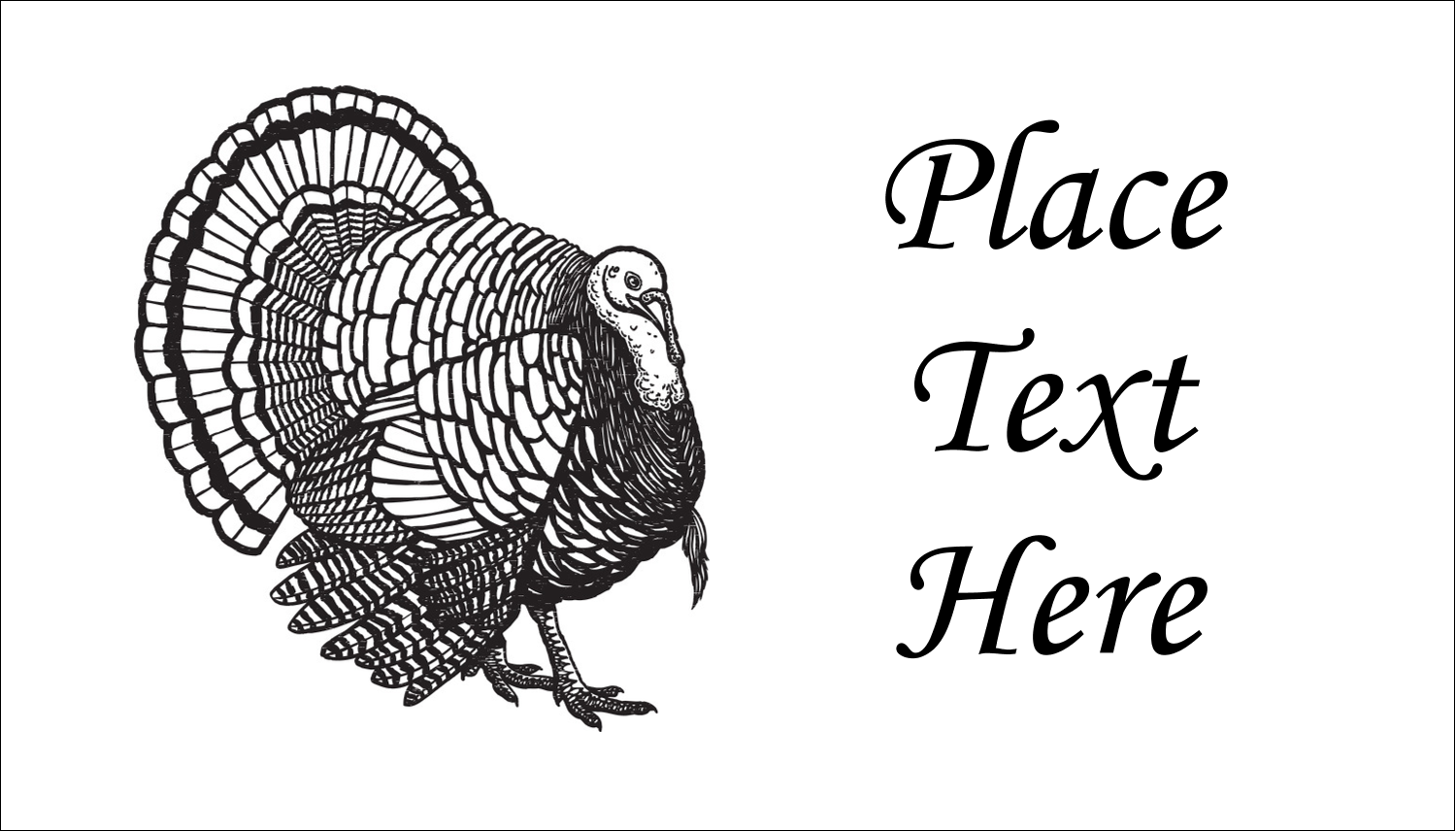 "2"" x 3½"" Business Card - Thanksgiving Vintage Turkey"