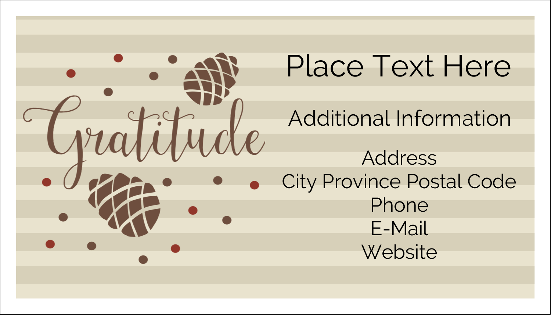 "2"" x 3½"" Business Card - Thanksgiving Gratitude"