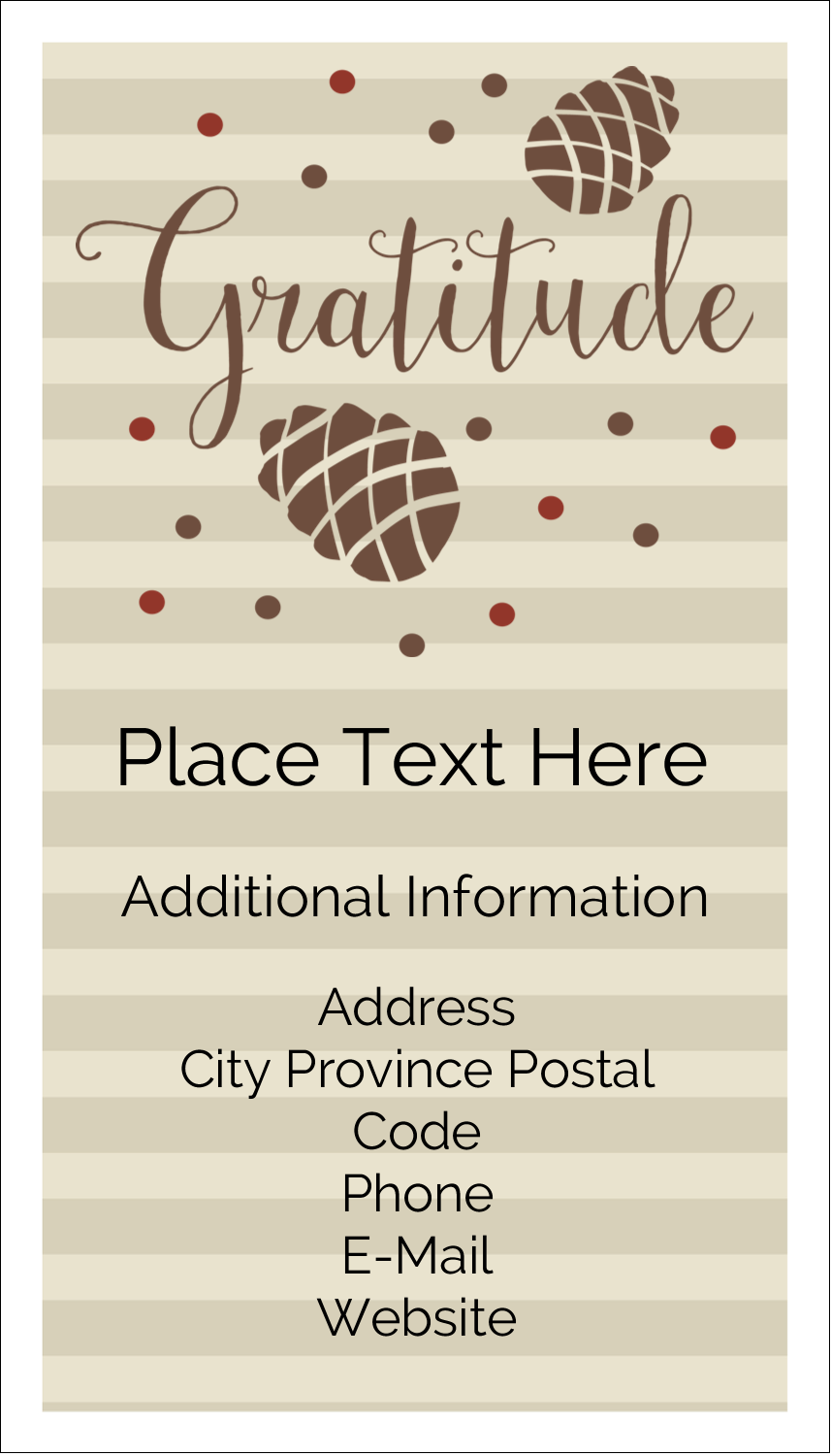"3½"" x 2"" Business Card - Thanksgiving Gratitude"