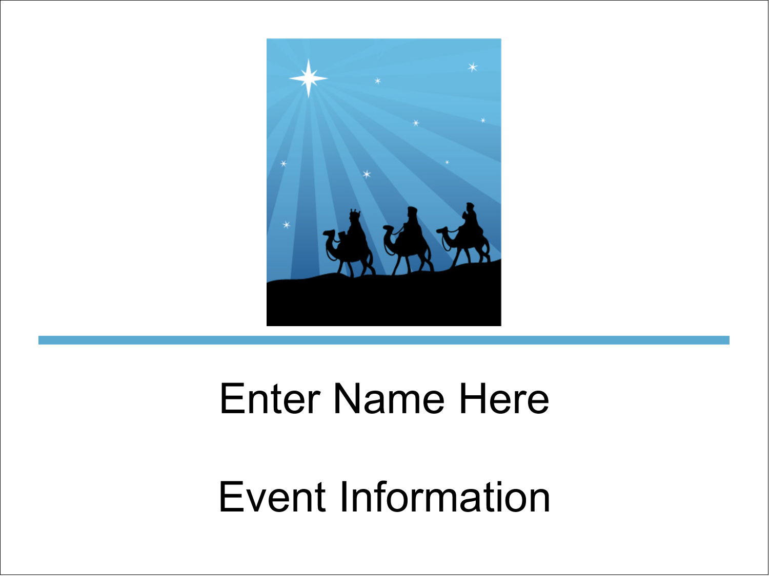 "3"" x 4"" Name Tags - Three Wise Men"