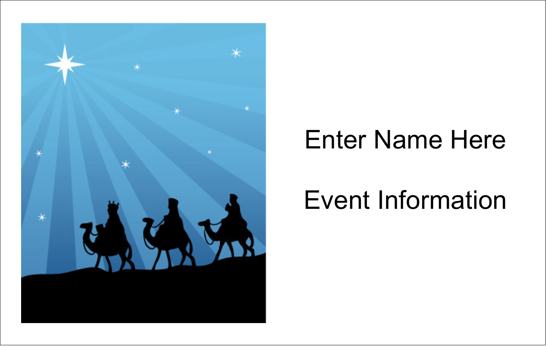 2¼ x 3½ Name Tags - Three Wise Men