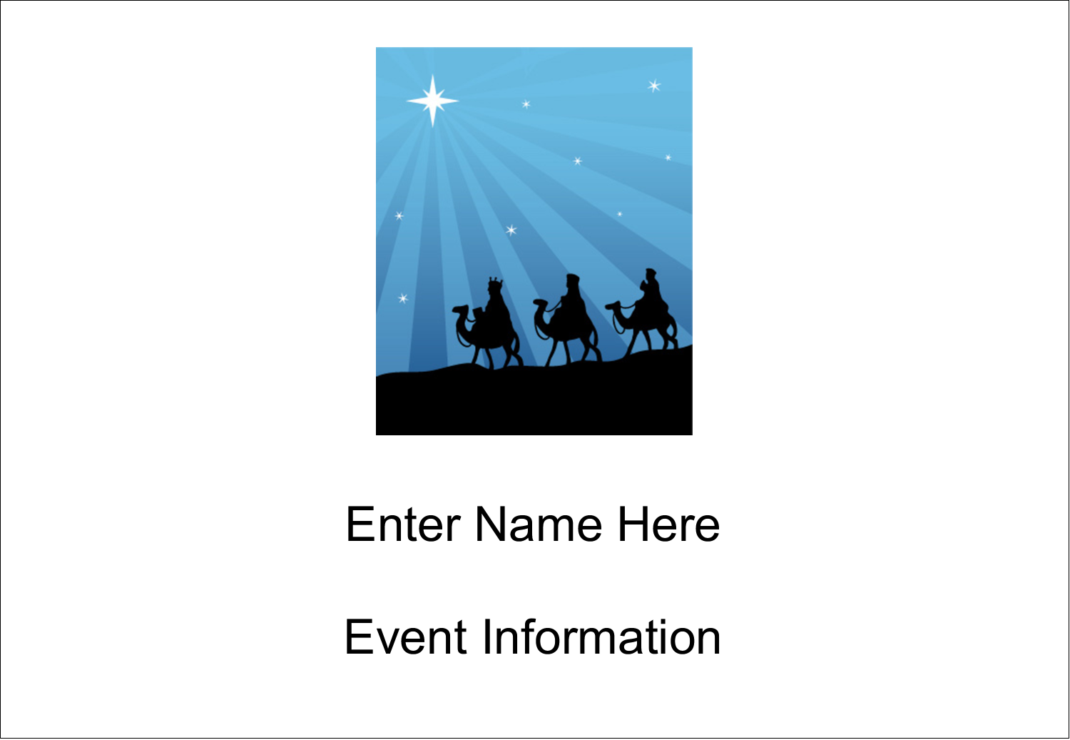 "3⅜"" x 2⅓"" Name Badge - Three Wise Men"