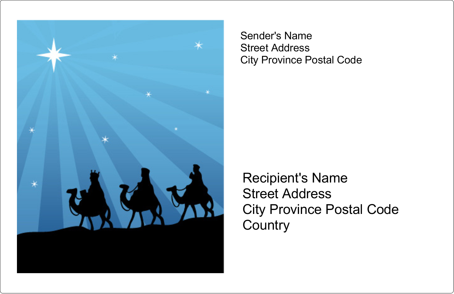 "5½"" x 8½"" Shipping Label - Three Wise Men"