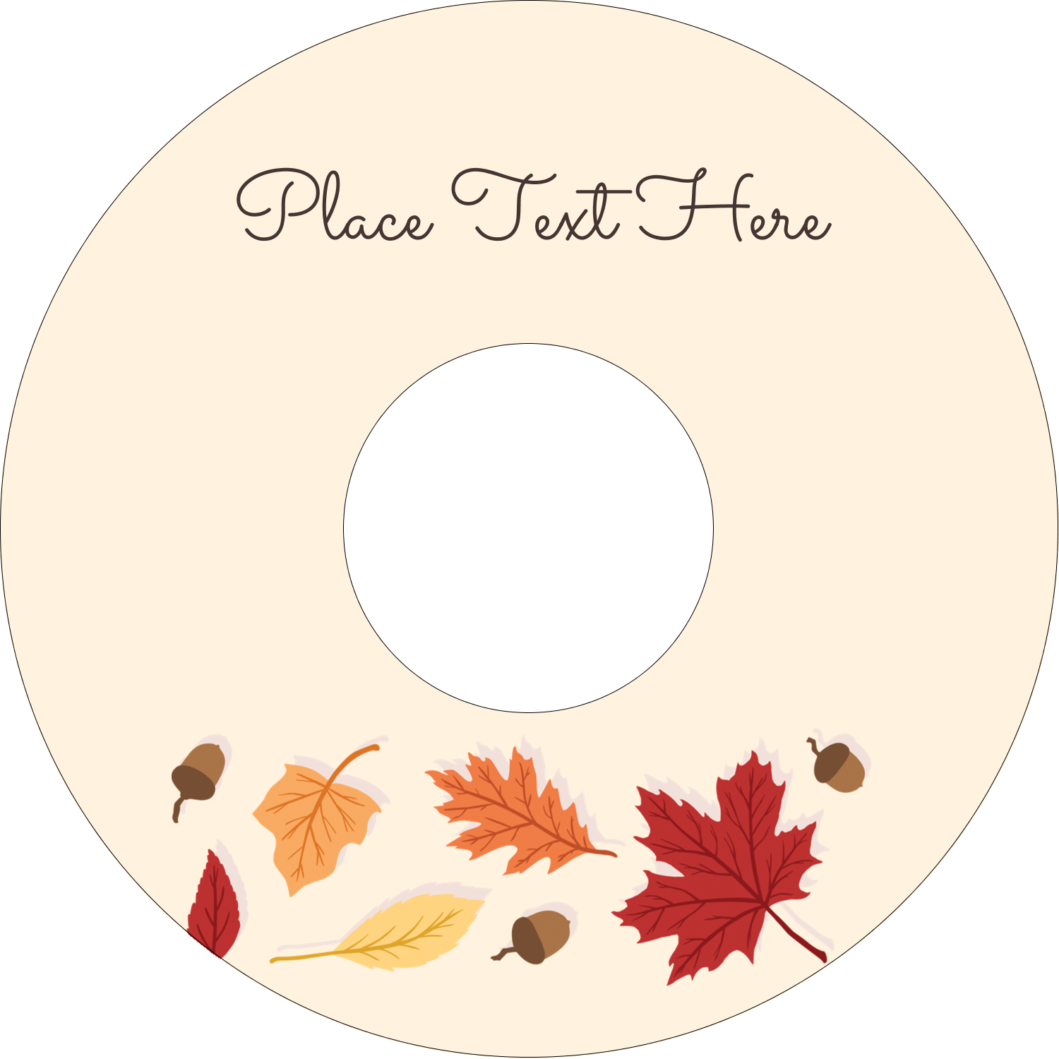 "4.65"" CD-DVD Label - Thanksgiving Leafy"