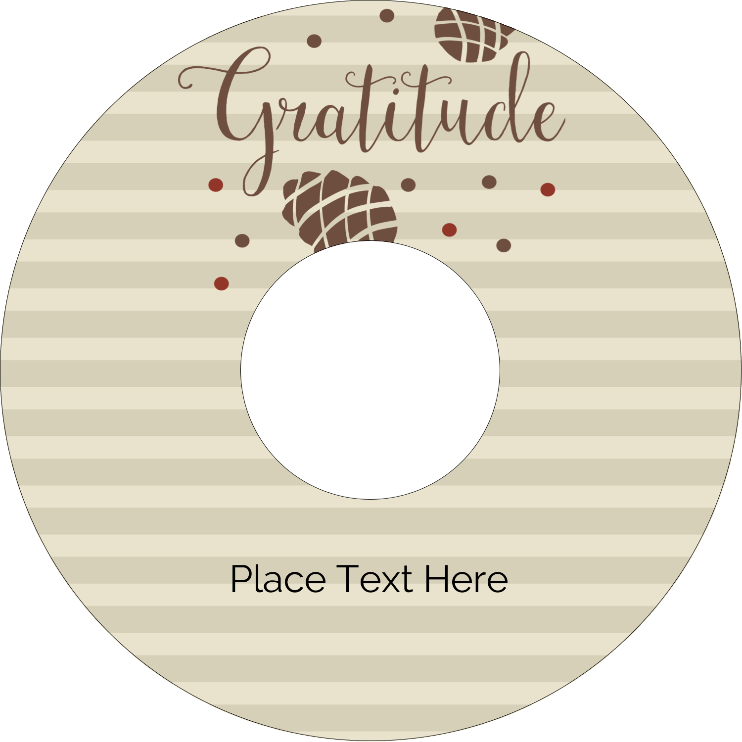 "4.65"" CD-DVD Label - Thanksgiving Gratitude"