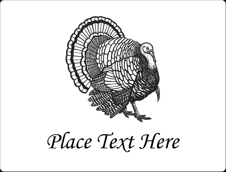 "2⅝"" x 2"" ID Label - Thanksgiving Vintage Turkey"